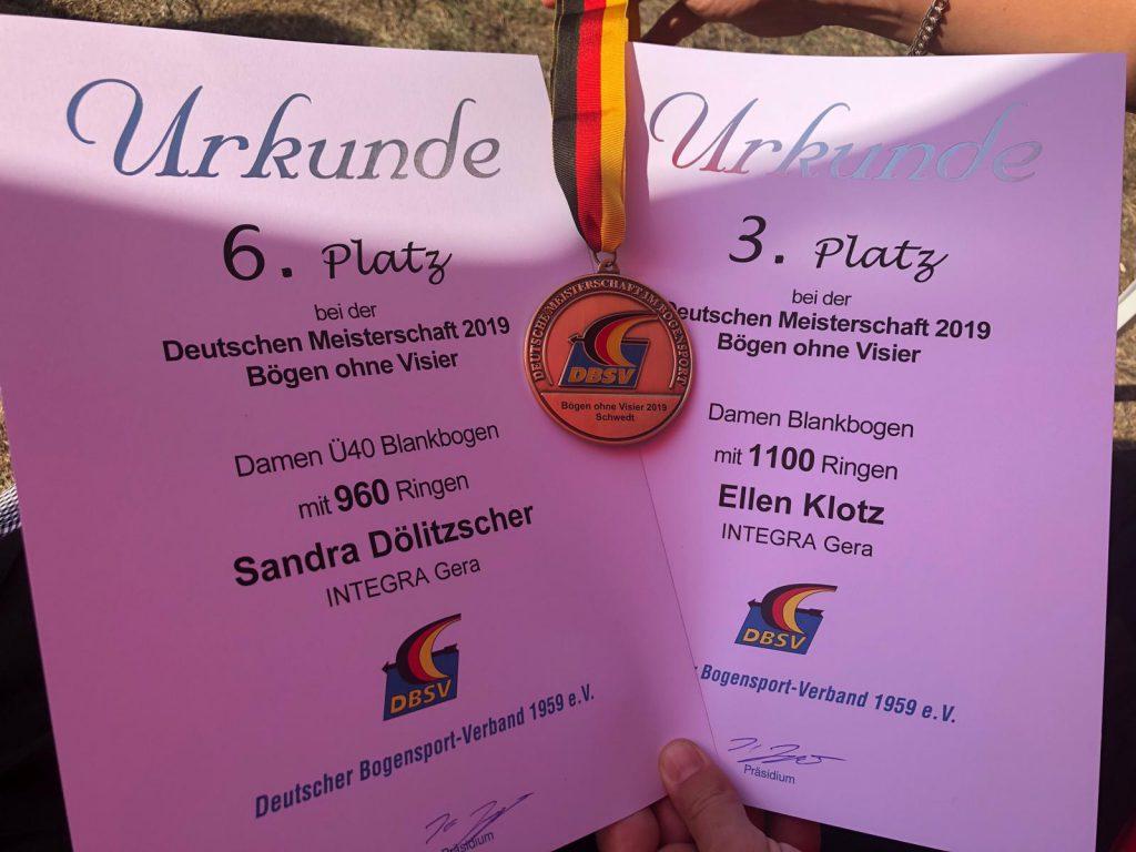 Deutsche Meisterschaft Blankbogen DBSV 2019