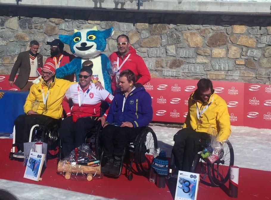 Die Siegerehrung für PARA-Bob in St. Moritz